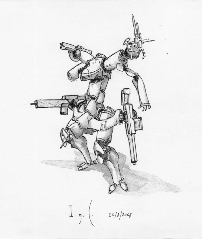 quad-armed battlearmour ridimensionato